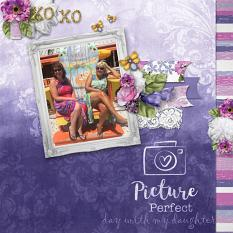 """Day with my Daughter"" digital scrapbook layout by Debby Leonard"
