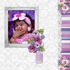 """Picture Perfect"" digital scrapbook layout by Carmel Munroe"