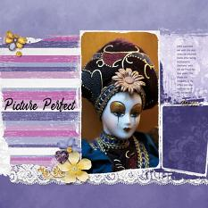 """Picture Perfect"" digital scrapbook layout by Sondra Cook"