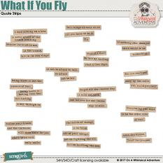 What If You Fly Quote Strips by On A Whimsical Adventure