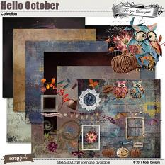 Hello October Collection by Florju designs