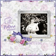"""Annette & Mark"" digital scrapbook layout by April Martell"