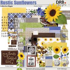 Rustic Sunflowers Collection Biggie by DRB Designs | ScrapGirls.com