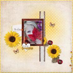 """You are my Sunshine"" digital scrapbook layout by Geraldine Touitou"