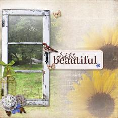 """Absolutely Beautiful"" digital scrapbook layout by Marie Hoorne"