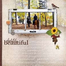 """Absolutely Beautiful"" digital scrapbook layout by Geraldine Touitou"