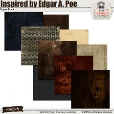 Inspired by Edgar Allan Poe Papers by On A Whimsical Adventure
