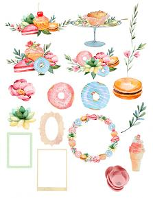 Pastry Shop Collection by Aftermidnight Design Embellishment sheet 1