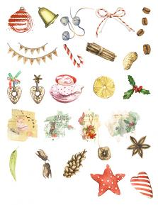 Christmas Pleasures Collection by Aftermidnight Design Embellishment sheet