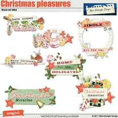 Christmas Pleasures WordArt Mini by Aftermidnight Design