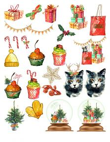 Christmas Shopping Super Mini by Aftermidnight Design Embellishment Sheet