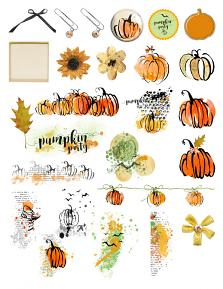 Pumpkin Time Collection Embellishment Sheet by Aftermidnight Design