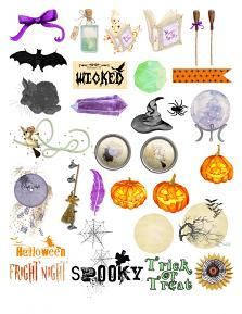 Halloween Collection Mini by Aftermidnight Design embellishment Sheet