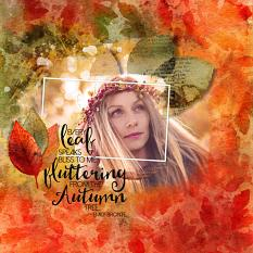 Scrapbook page using Autumn Watercolor Layer Styles