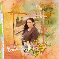 Scrapbook layout using Autumn Watercolor Layer Styles