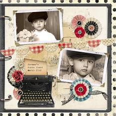 Scrapbook page created with Design Mix - Flea Market