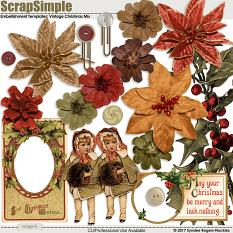 Vintage Christmas Design Mix embellishments