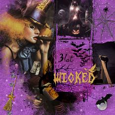 Layout by JudyW using Halloween Spooky Collection