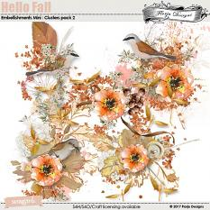 Hello Fall Embellishment Mini: Cluster Pack 2 by florju designs