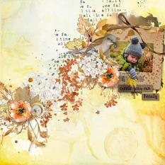 layout using Hello Fall Embellishment Mini: Cluster Pack 1 by florju designs