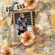 layout using Hello Fall Collection Biggie by Florju designs