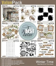 ScrapSimple Embellishment Templates: Winter Time Clipping Mask by Florju Designs
