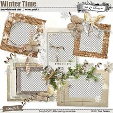 Winter Time Embellishment Mini: Cluster Pack 1 by florju designs