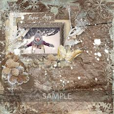 layout using Winter Time Embellishment Mini: Cluster Pack 1 by florju designs