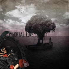 Digital creative team layout using Immortal Love by On A Whimsical Adventure