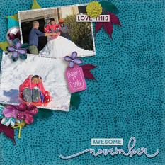 Layout by Penny using Project Keepsake: November - Collection Biggie