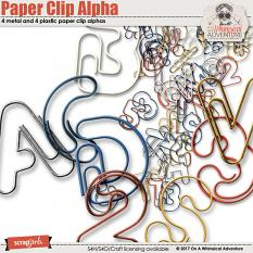 Paper Clip Alphabet by On A Whimsical Adventure