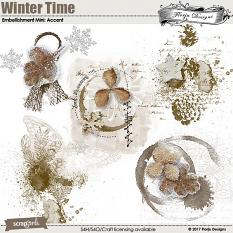 Winter Time Embellishment Mini: Accent by florju designs