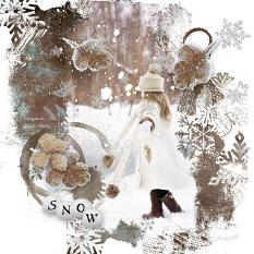 layout using Winter Time Embellishment Mini: Accent by florju designs