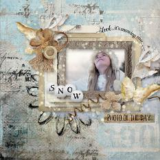 layout using Winter Time Embellishment Biggie by florju designs