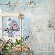 layout using Winter Time Collection Biggie by florju designs