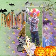 Layout by Marie-christine using Halloween Spooky Collection Mini by Afternidnight Design