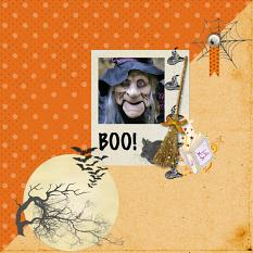 Layout by Sondra using Halloween Spooky Collection Mini by Aftermidnight Design