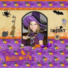 Layout by Dady using Halloween Spooky Collection Mini by Aftermidnight Design