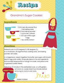 Recipe Page created with Kiss the Cook Embellishments