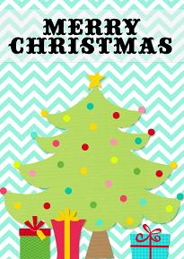 Card created using Christmas happy Embellishment Templates Clip art