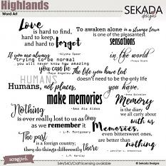Highlands Word Art