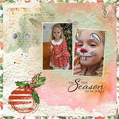 Layout by Shannon T using Christmas Pleasure Collection by Aftermidnight Design