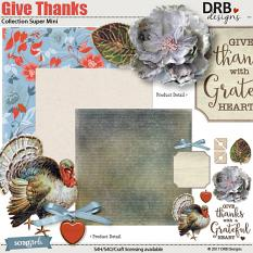 Give Thanks Collection Super Mini by DRB Designs | ScrapGirls.com