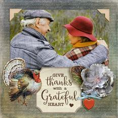 """Give Thanks"" digital scrapbook layout by Darryl Beers"