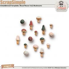 ScrapSimple Embellishment Templates: Wood Pieces Vol2 by On A Whimsical Adventure