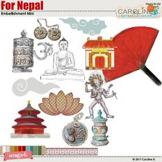 For Nepal Embellishment Mini by Caroline B.