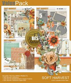 Value Pack: Soft Harvest digital scrapbooking Thanksgiving kit by AFT Designs - Amanda Fraijo-Tobin @ScrapGirls.com