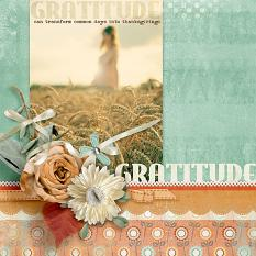 """Gratitude"" #digitalscrapbooking layout by AFT Designs - Amanda Fraijo-Tobin"