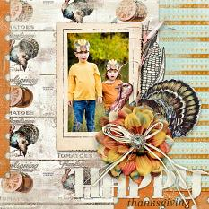 #digitalscrapbooking layout by AFT Designs - Amanda Fraijo-Tobin using Soft Harvest Clusters #fall #scrapbook #memorybook