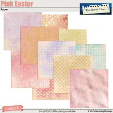 Pink Easter Paper Mini by Aftermidnight Design